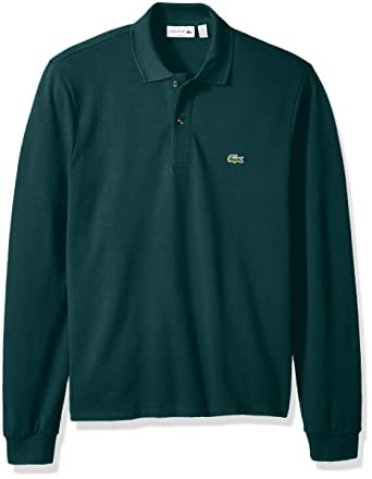 4b4cec50f Lacoste Men s Classic Long Sleeve Pique Polo Shirt at Amazon Men s ...