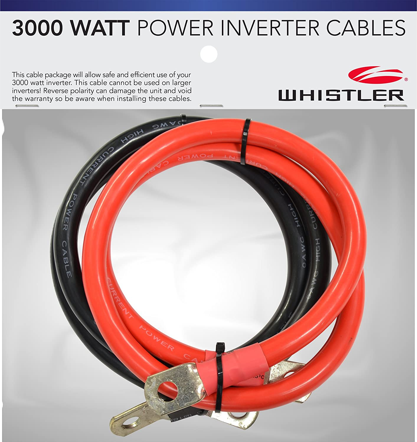 Wire guage for inverters wire center amazon com whistler ic 2000w power inverter cables with ring rh amazon com wire gauge chart speaker wire gauge greentooth Choice Image