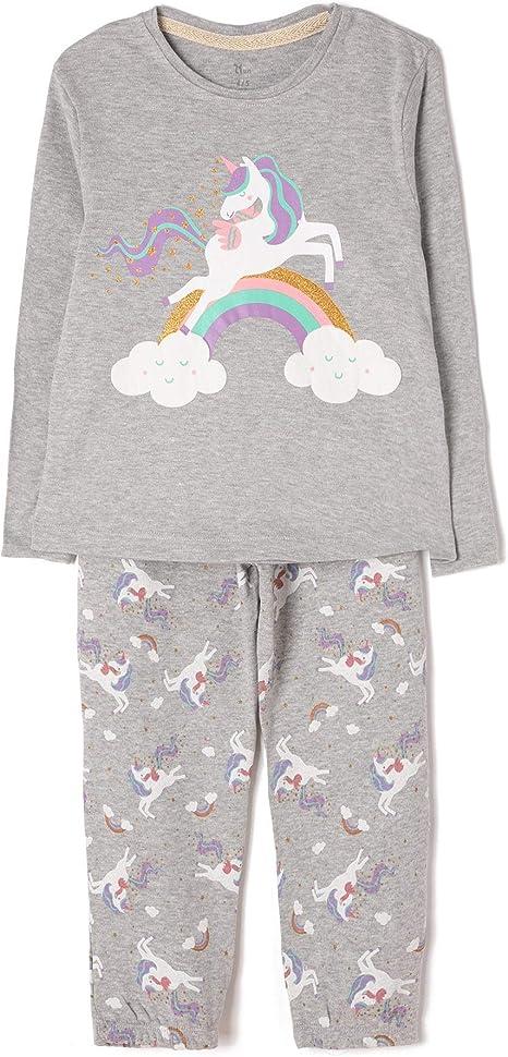 ZIPPY Unicornio Conjuntos de Pijama, Multicolor (Mixed 1158), 3 ...