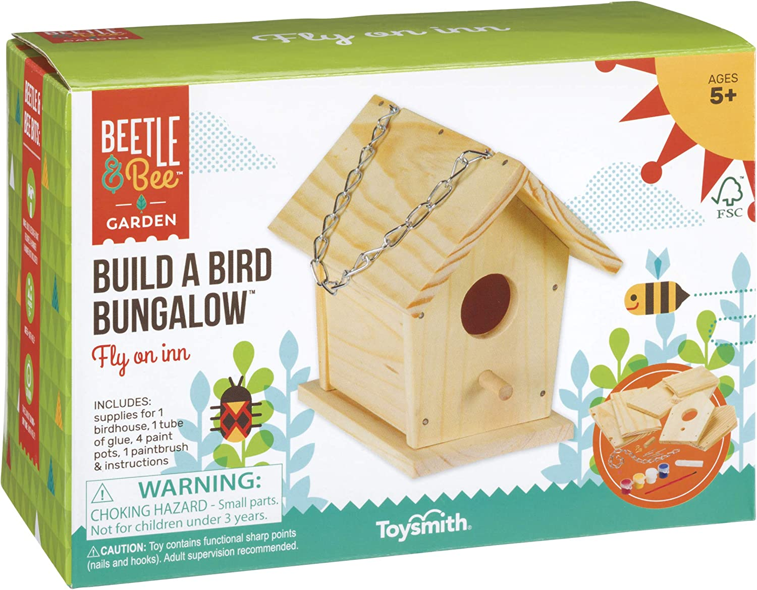 Paint Your Own Birdhouse New Craft Sets Arts /& Crafts Garden Craft