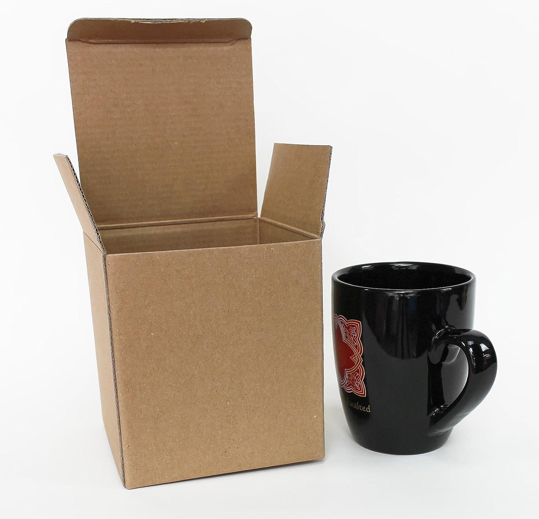 Taza de cartón caja 6 unidades – Caja de cartón correo Regalos embalaje taza (el último pequeño marrón caja. Altura: 13 cm, ancho: 11,5 cm, profundidad: 11,5 cm: Amazon.es: Hogar