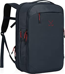 Hynes Eagle TSA Friendly Travel Backpack for Men Women Carry on Backpack 40L Flight Approved Laptop Backpack for 17 inches Compressible Weekender Bag Overnight Backpack Navy
