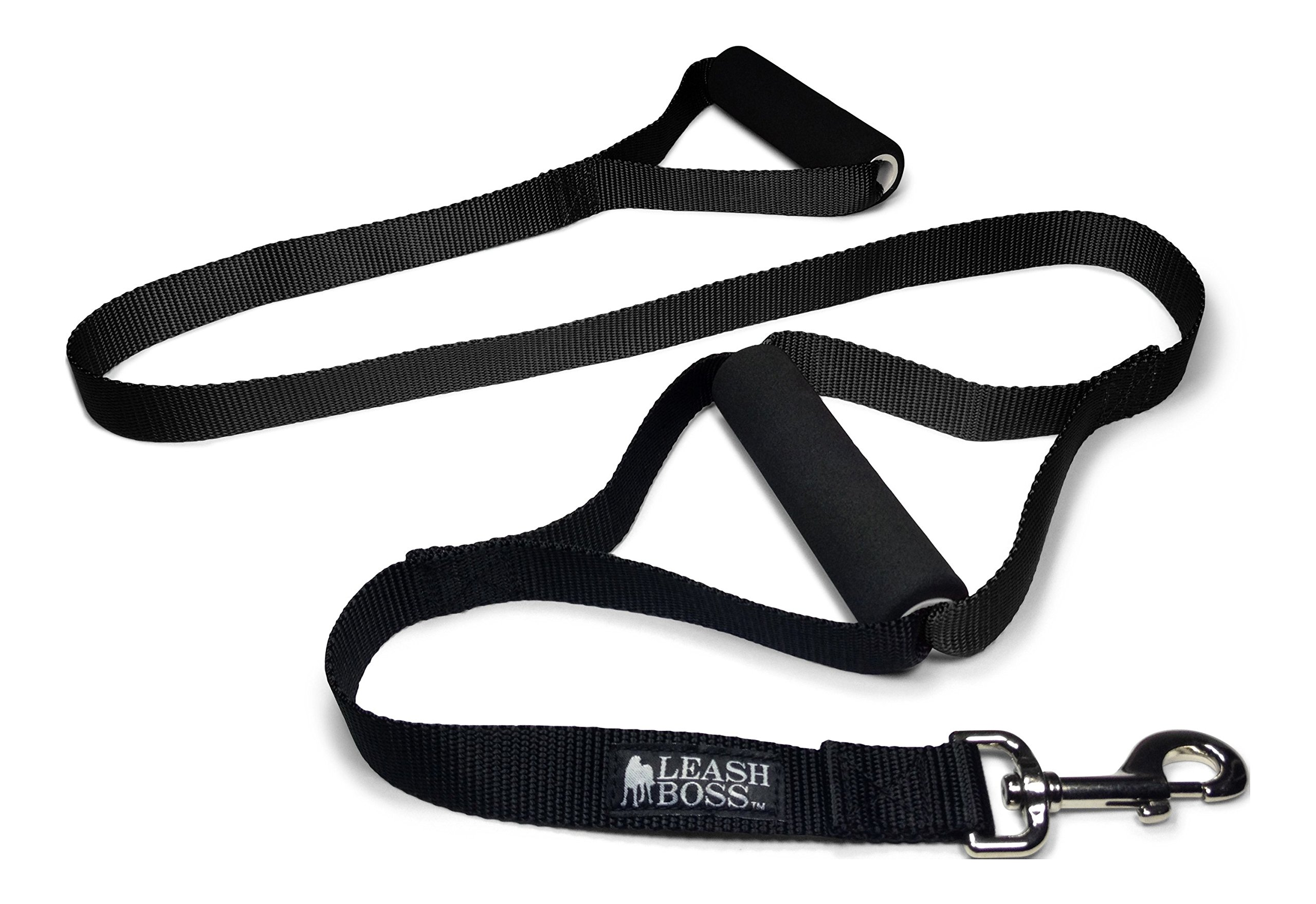 Leashboss Original - Heavy Duty Two Handle Dog Leash for Large Dogs - No Pull Double Handle Training Lead for Walking Big Dogs (Black) by Leash Boss