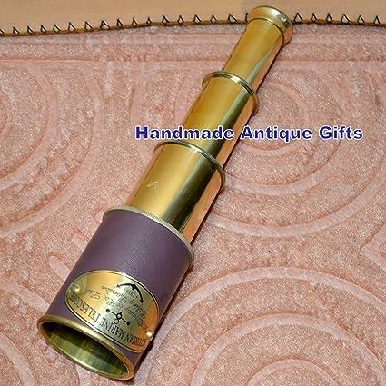 Victorian 1915 Brass Telescope Marine Nautical Hand Held Telescope 20 Inch Gift