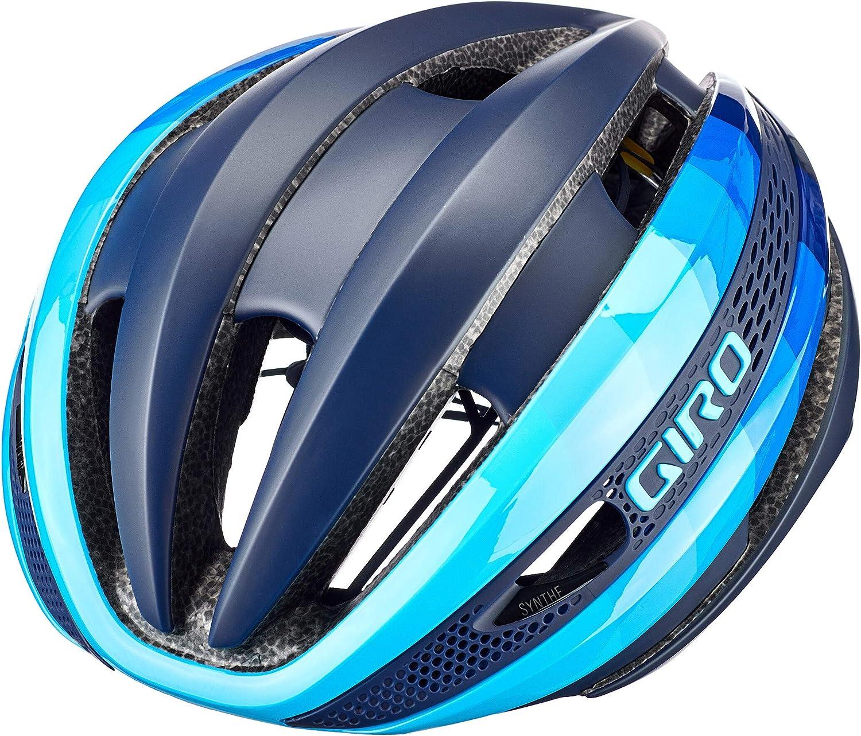 Giro Synthe MIPS Casque de v/élo de Course Noir//Bleu 2020