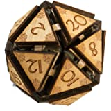 """Crafts - 20 Sided Dice - Art Kit - RAW Wood 1.5""""x1.5"""" (includes 1 die only)"""