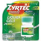 Zyrtec Allergy 24-Hour 10mg Liquid Gels-25 ct
