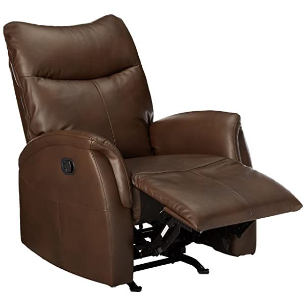 ACME Riso Brown Leather-Aire Rocker Recliner