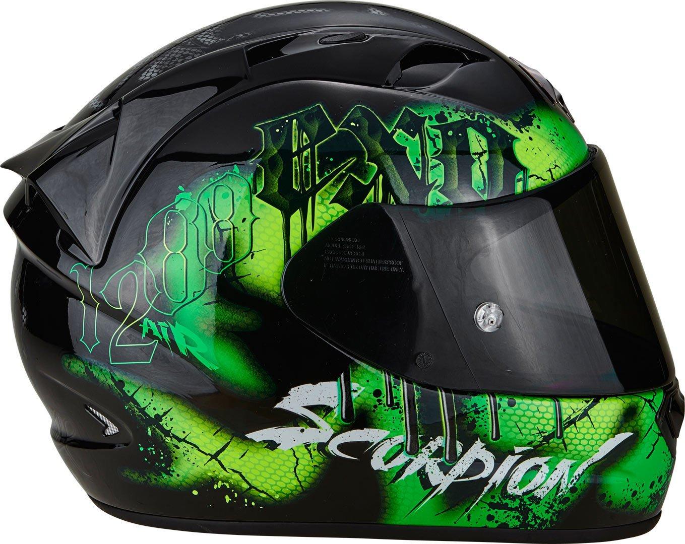 SCORPION Casque Moto EXO-1200/AIR tenebris Black//Green M