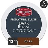 Community Coffee Signature Blend 深度烘焙咖啡胶囊 36个 与Keurig 2.0 K 杯咖啡机兼容 浓郁口味 纯阿拉比卡咖啡豆