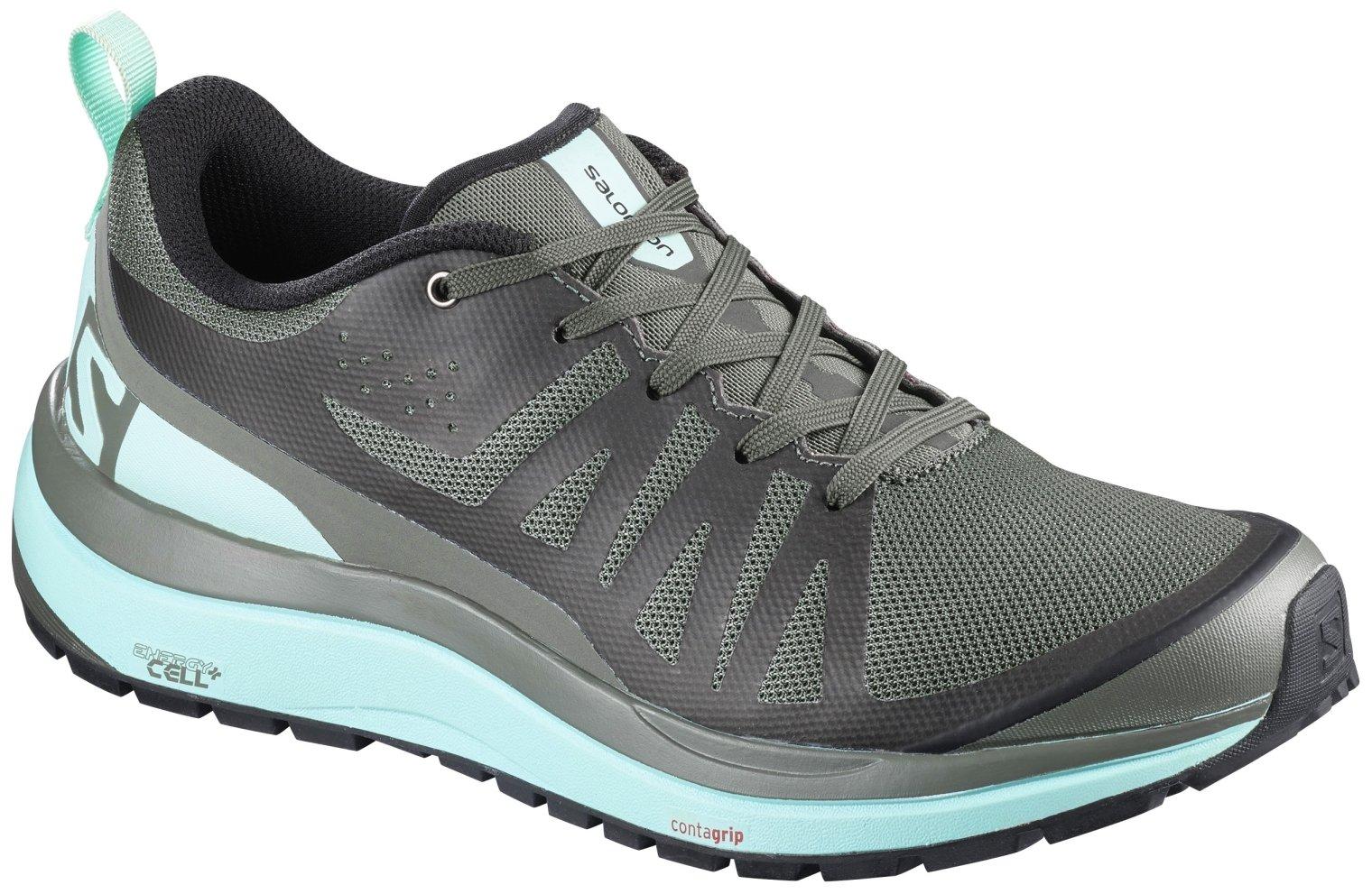 Salomon Women's Odyssey Pro Low Hiking Shoes Castor Gray/Eggshell Black 6.5