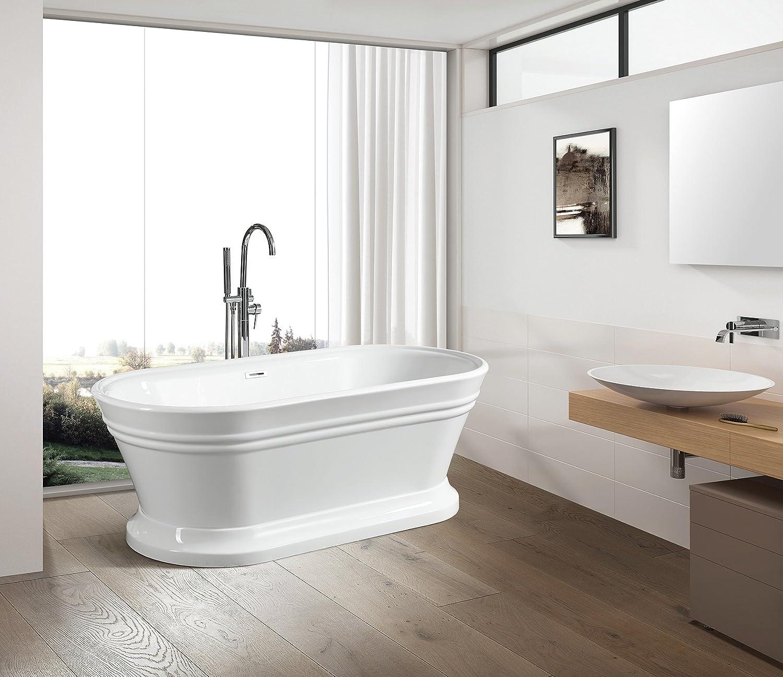 Vanity Art Free Standing Acrylic Bathtub Dimension