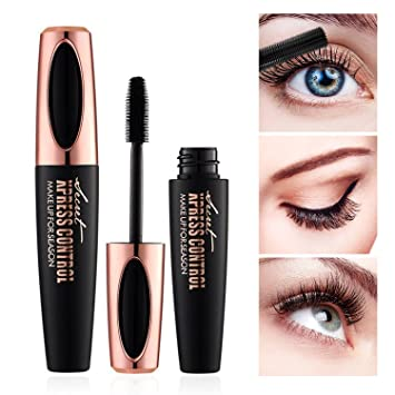 87690b2a7c8 4D Silk Fiber Lash Mascara - Waterproof Makeup Eyelash Extension Mascara  Cream - Crazy Long Washable