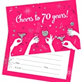 Olivia Samuel 70th Birthday Party Invitations