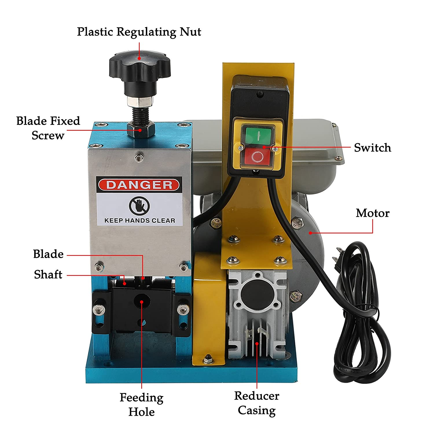 Co Z Automatic Electric Wire Stripping Machine Portable Scrap Cable Harness Stripper For Copper Recycling