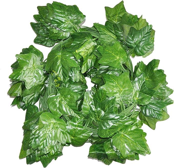 12pcs 7.9ft New Artificial Leaf Ivy Vine Plant Fake Foliage Green Home Decor
