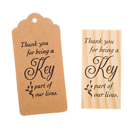 amazon com ella celebration wooden rubber stamp for tags thank you
