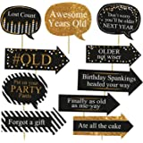 Party Propz™ Happy Birthday Photobooth Props 10 Pcs/Birthday Photo Props