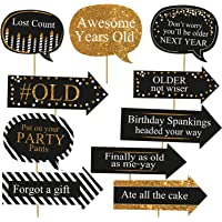 Party Propz™ Happy Birthday Photobooth Props 10 Pcs/Birthday Photo Props