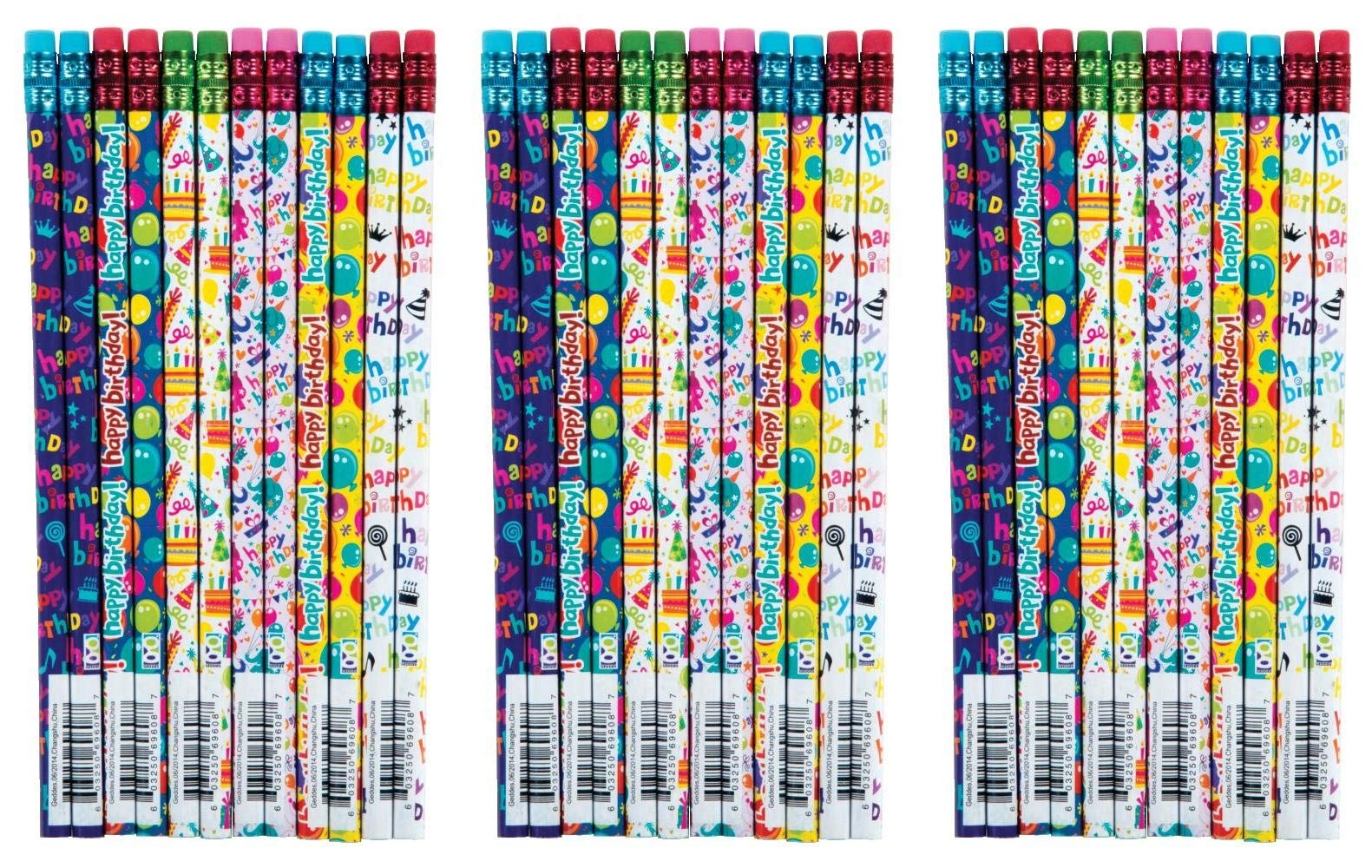 Raymond Geddes Its your Birthday Pencil, 72 Pack (69608) (Вundlе оf Тhrее)