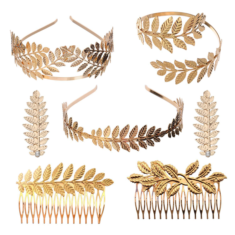 boho jewellery Bridal accessories Handmade bronze hair accessory ancient Greek accessories olive leaf