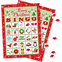 Moon Boat Christmas Bingo Game Xmas/Holiday/Winter Party Supplies/Favors 32 Players