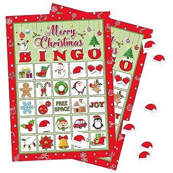 Christmas Bingo.Christmas Bingo Game Xmas Holiday Winter Party Supplies Favors 32 Players