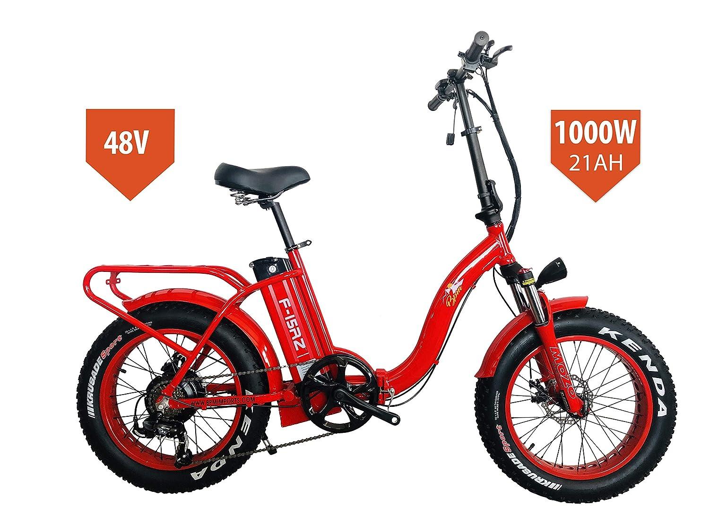 BPM F15RZ 1000W 21AH Fat Tire 48v Electric Bicycle Folding 20 E Bike