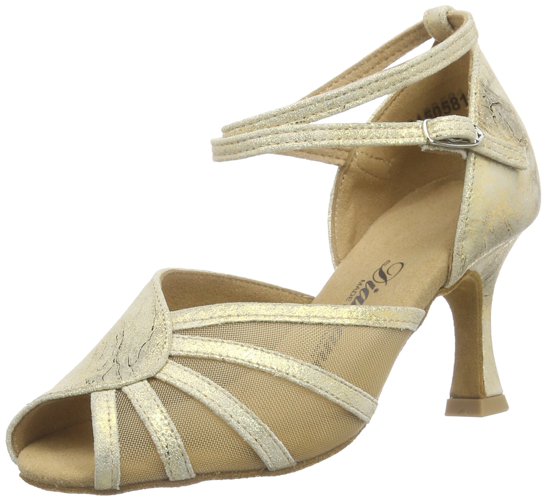 Diamant - Dance Shoes 020-087-017 2.5'' (6.5cm) Gold Magic (6.5 F(M) UK / 9 B(M) US)