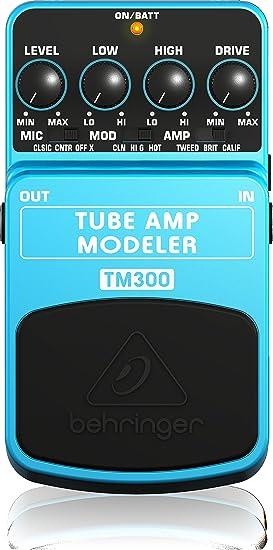 Behringer TUBE AMP MODELER TM300 tubo de modelado de amplificadores efecto de pedal