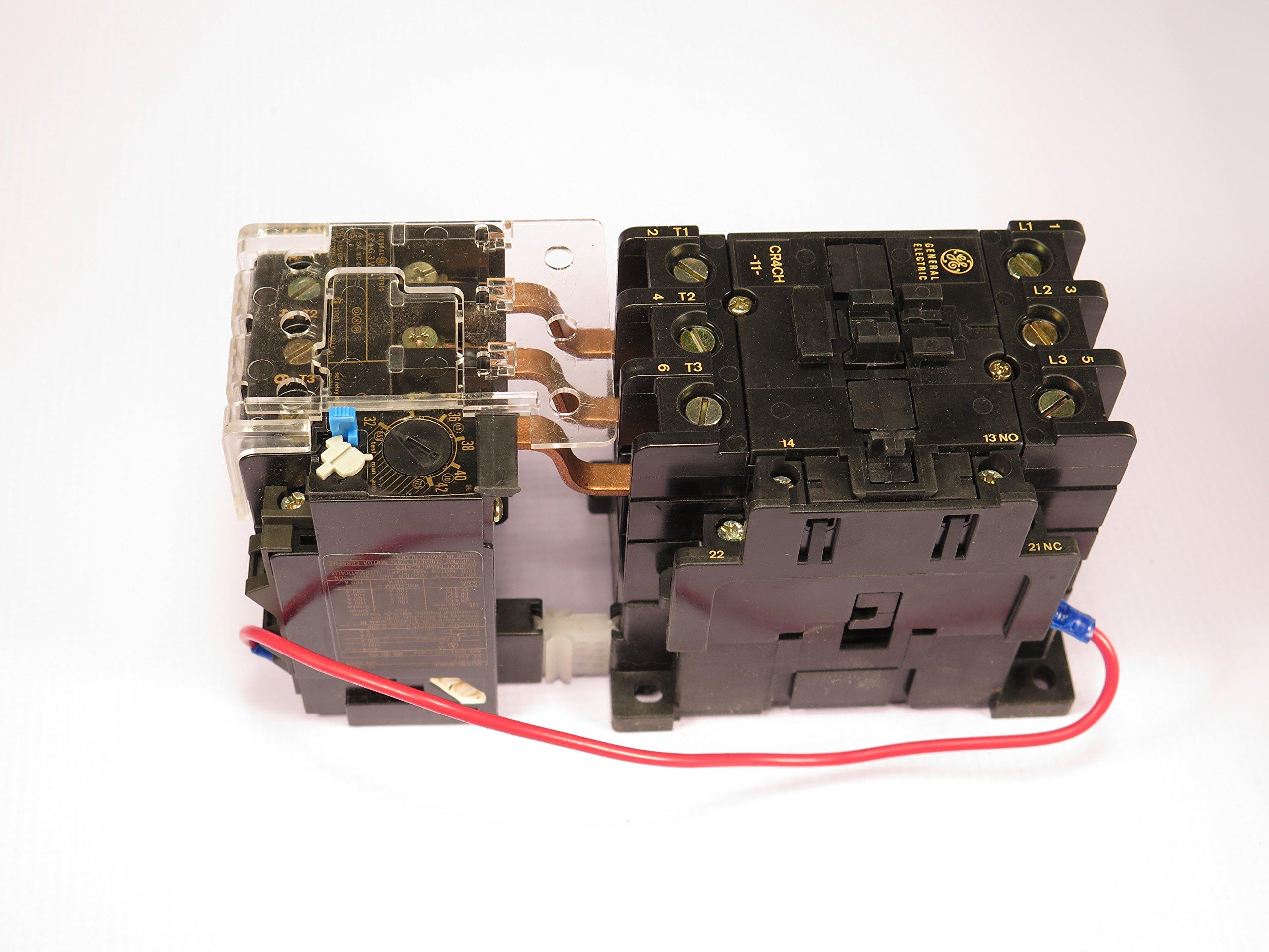 CR4CHH/CR4G3WT GE MAGNETIC STARTER OVERLOAD ADJUSTABLE 32-42AMP 24V AC COIL