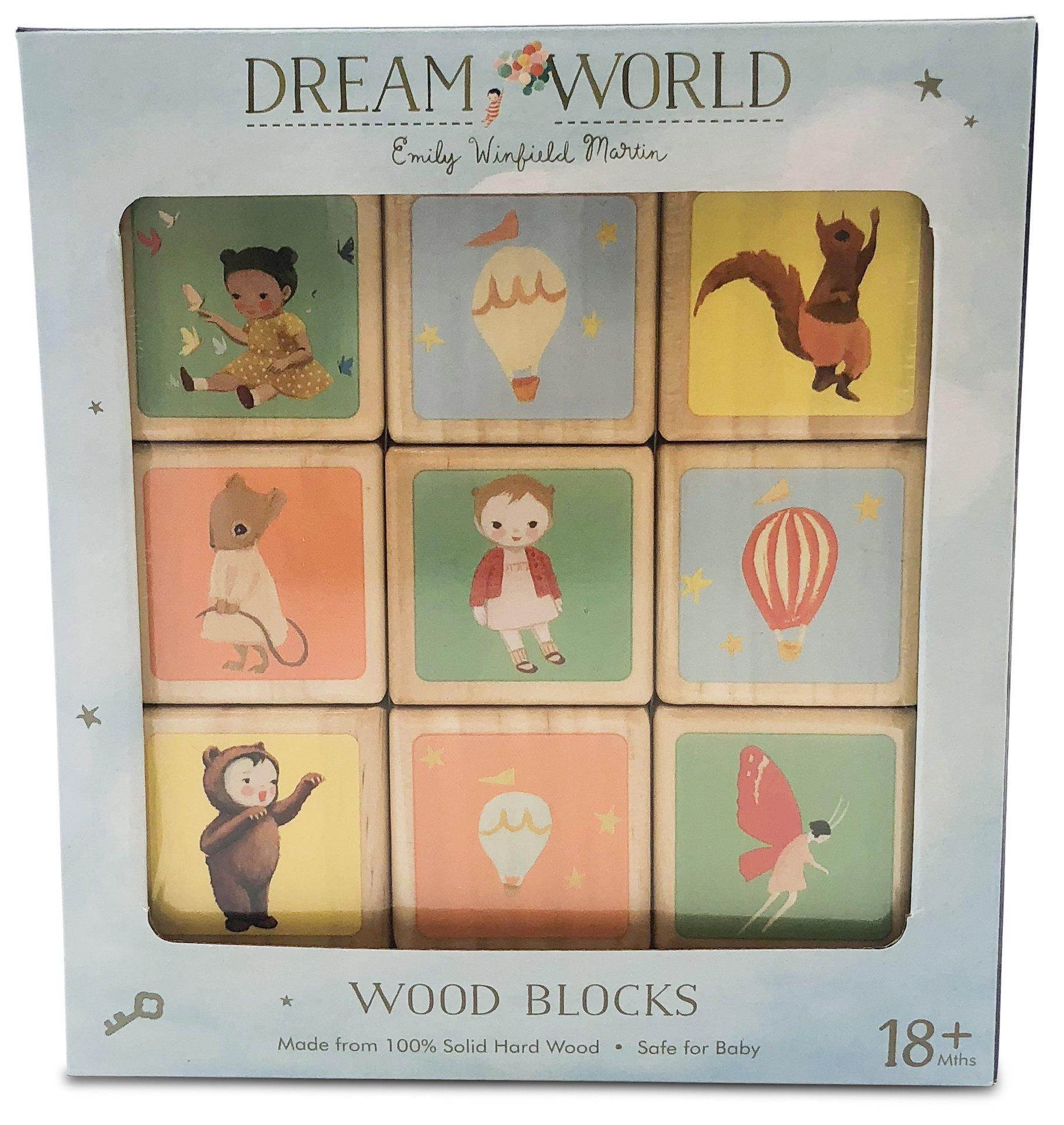 Finn + Emma Emily Winfield Martin Dreamworld Natural Wood Toy Block Set