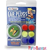 Ear Bandit Putty Buddies - Lote de tapones para los oídos (3 pares) Purple Pink Teal