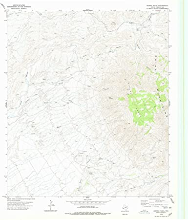 Sierra Parda TX topo map, 1:24000 scale, 7.5 X 7.5 Minute,