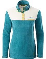 Kathmandu Pelorus Women's High Neck Snap Button Warm Outdoor Fleece Pullover