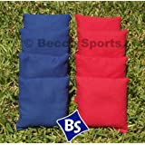 Weather Resistant Cornhole Bags Set - 4 Red & 4 Royal Blue