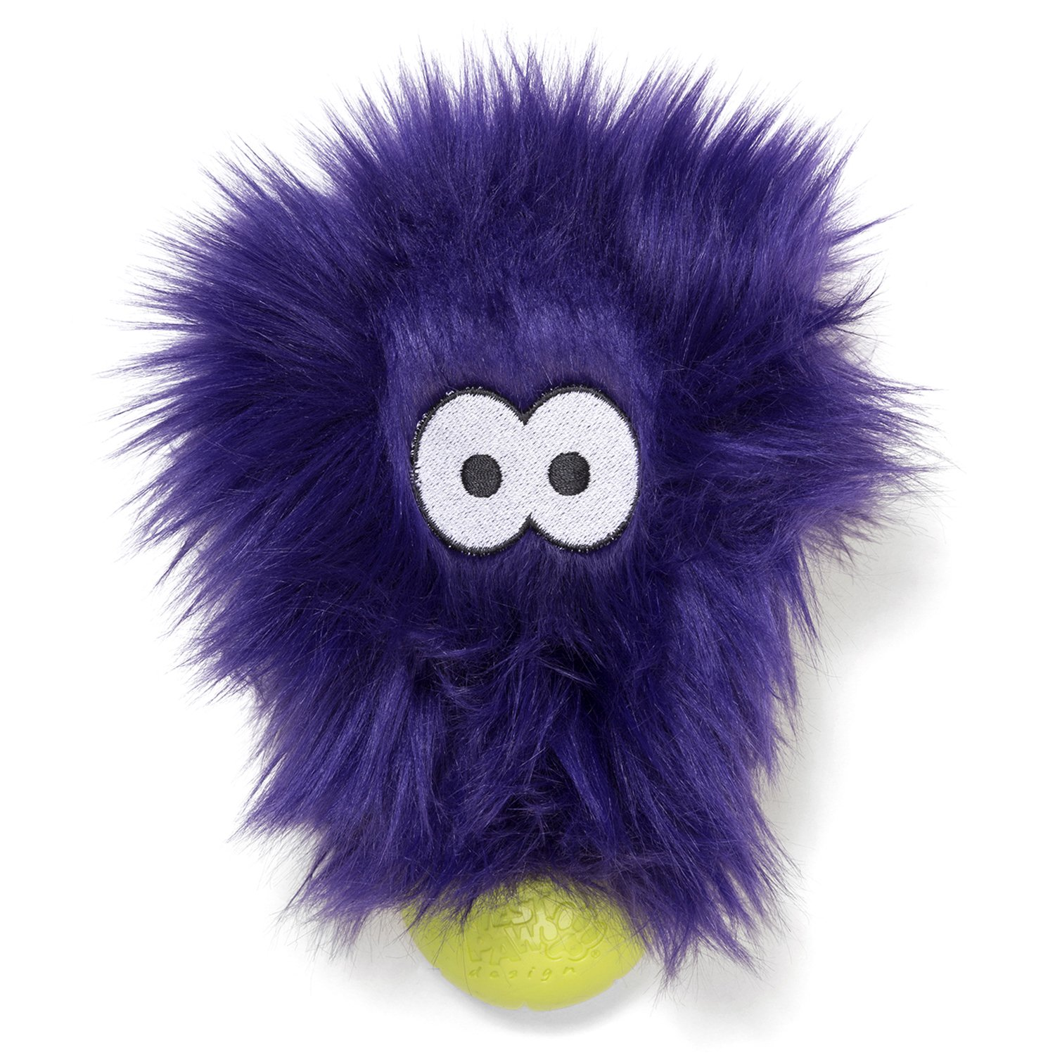 West Paw Rowdies with HardyTex and Zogoflex, Durable Plush Dog Toy for Small to Medium Dogs, Rosebud, Purple Fur