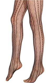 40a2e2ddc6895 Star Power By Spanx Backdrop Black Open-Weave Shaping Tights Black Boudoir