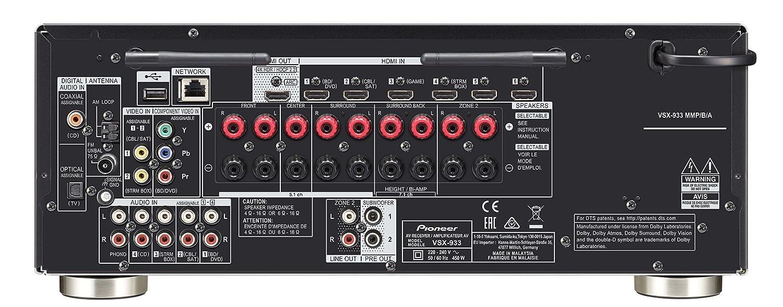 Pioneer VSX-933-B - Receptor A/V multicanal, Color Negro: Amazon.es: Electrónica