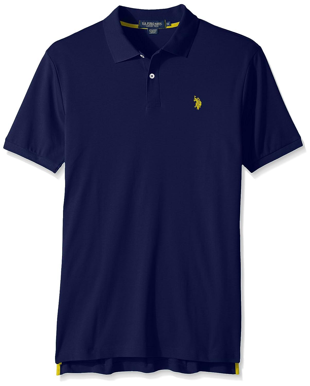 Mens Solid Interlock Short-Sleeve Polo Shirt Polo Assn U.S