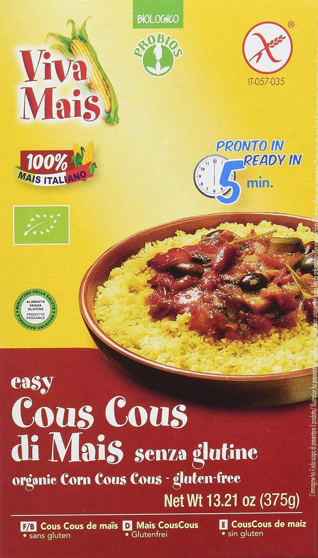 Probios Easy Cuscús de Maíz sin Gluten - Paquete de 12 x 375 gr - Total: 4500 gr