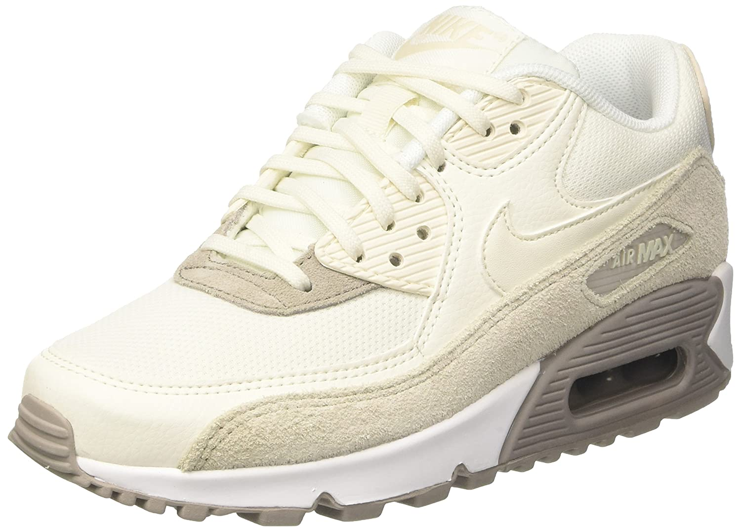 Nike Wmns Air MAX 90, Zapatillas para Mujer 35.5 EU|Beige (Light Orewood Brown/Sail-cobblestone-white)