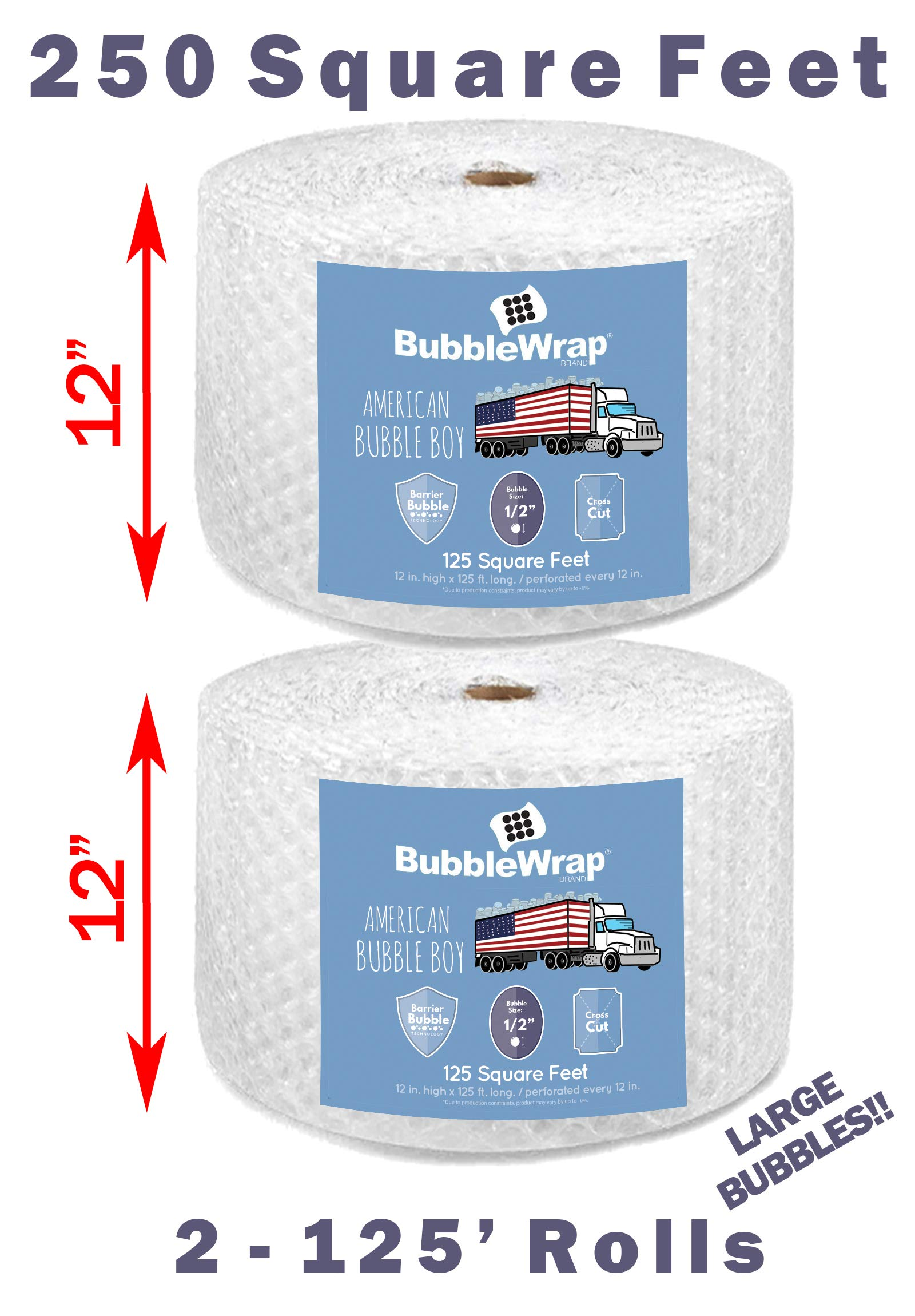 Official Sealed Air Bubble Wrap - American Bubble Boy (250' Large (1/2'') Bubble Wrap) by American Bubble boy