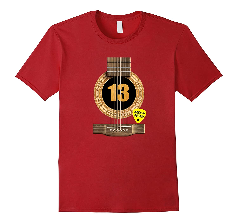 13th Birthday Shirt Rockin my day Best Gift for Guitar Lover