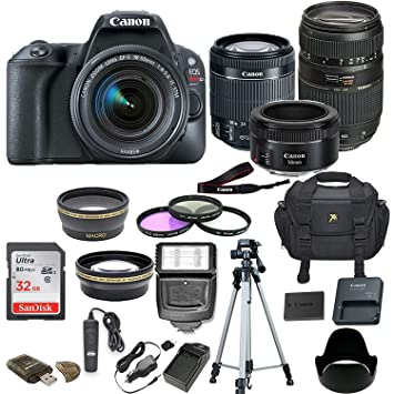 Amazon.com: Canon EOS Rebel SL2 Cámara réflex digital w/5 ...