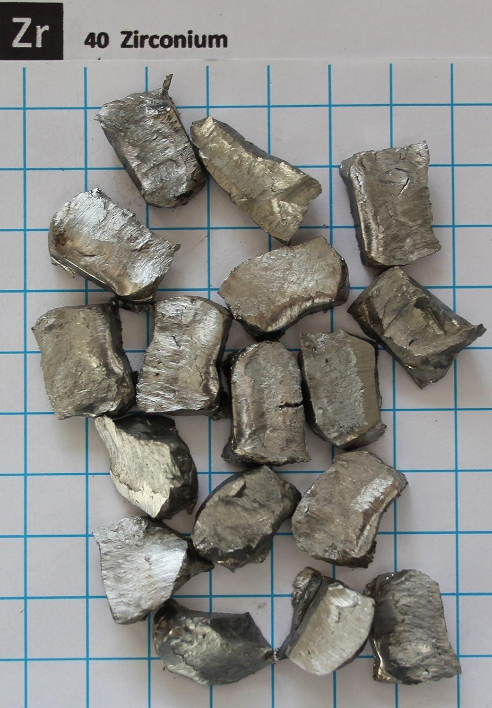 Free Shipping 7 Gram 99.81/% Zirconium Metal Nugget Pure Element 40 Sample
