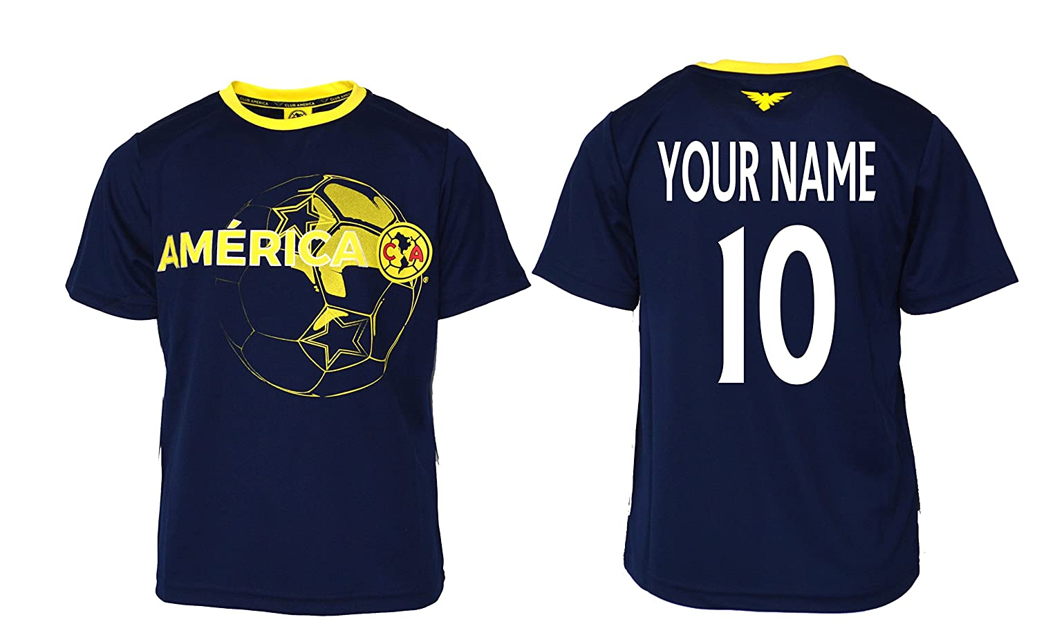 f2d80a74b44 Amazon.com   Club America Soccer Jersey Youth Boys Training Custom Name and  Number   Sports   Outdoors