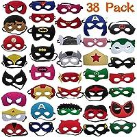 YUNFUN Máscaras de Superhéroe 38 Piezas, Máscaras
