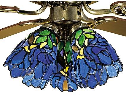 5 inch w iris fan light shade ceiling fixture