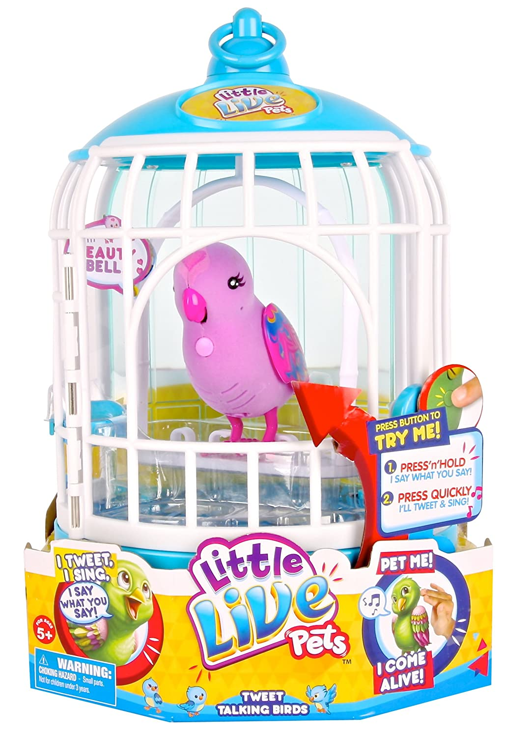 Little Live Pets Cage #2 Beauty Bella Bird Cage Moose Toys 28024